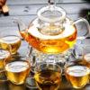 Demi Thickened Elegant Borosilicate Glass Tray Tea