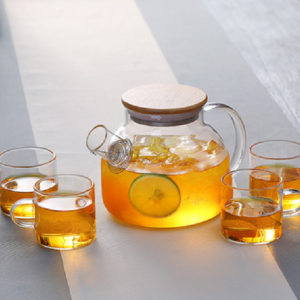 Wooden Lid Heat Resistant Teapot